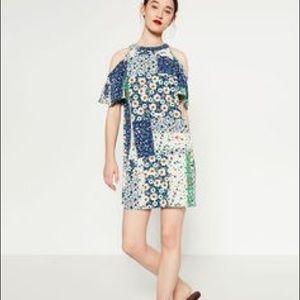 Zara Cold Shoulder Floral Dress